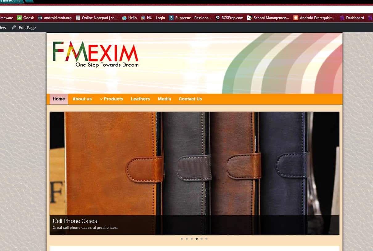 fmeximbd.com – Simple Product Gallery Based Website