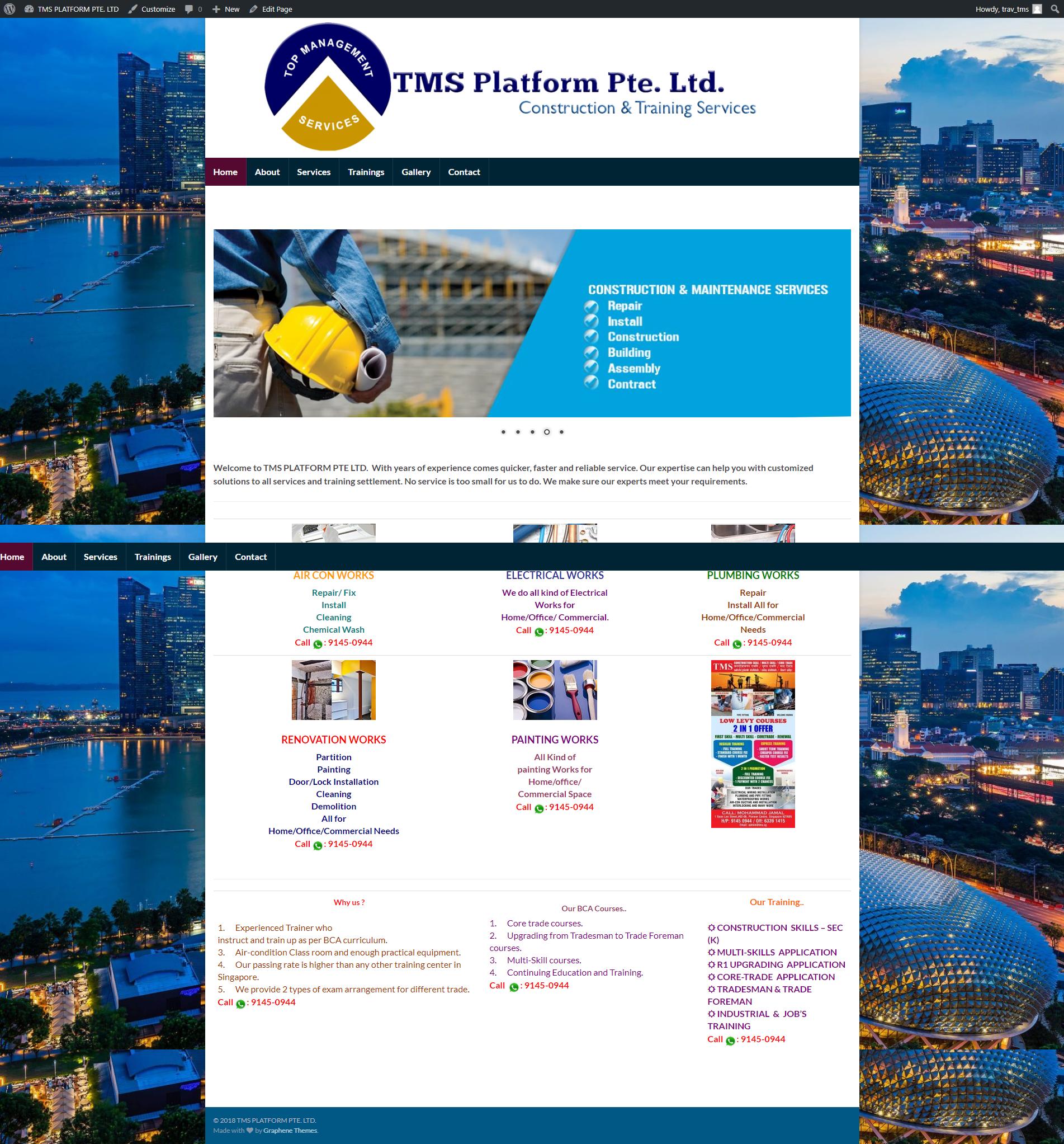 Website www.tmsplatform.com – Portfolio Company Website